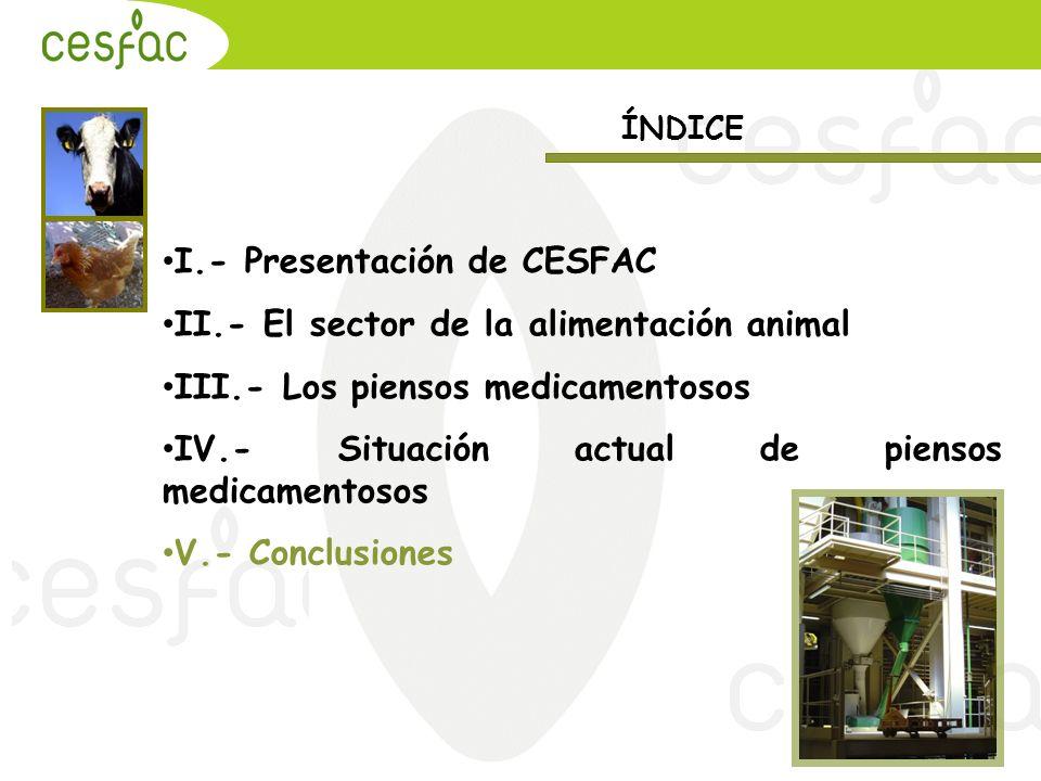 I.- Presentación de CESFAC II.- El sector de la alimentación animal