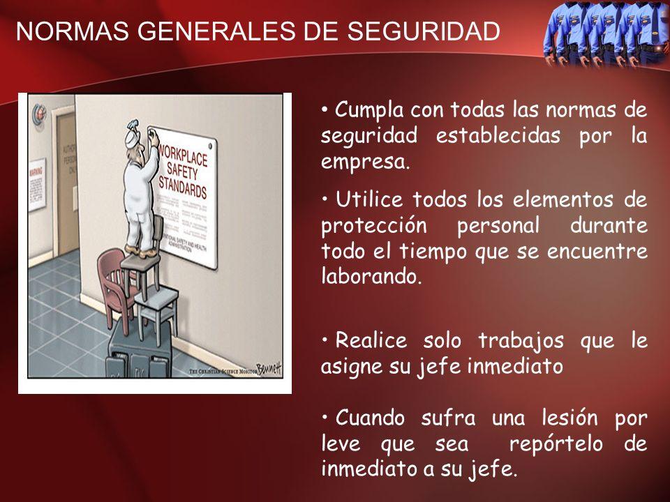 NORMAS GENERALES DE SEGURIDAD