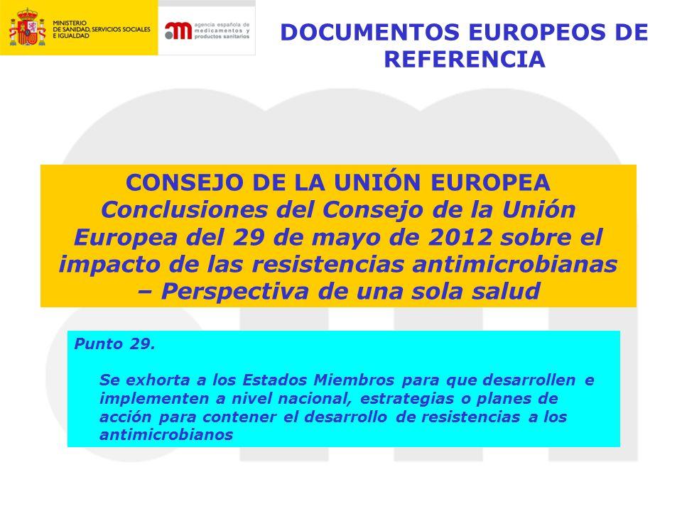 DOCUMENTOS EUROPEOS DE REFERENCIA CONSEJO DE LA UNIÓN EUROPEA