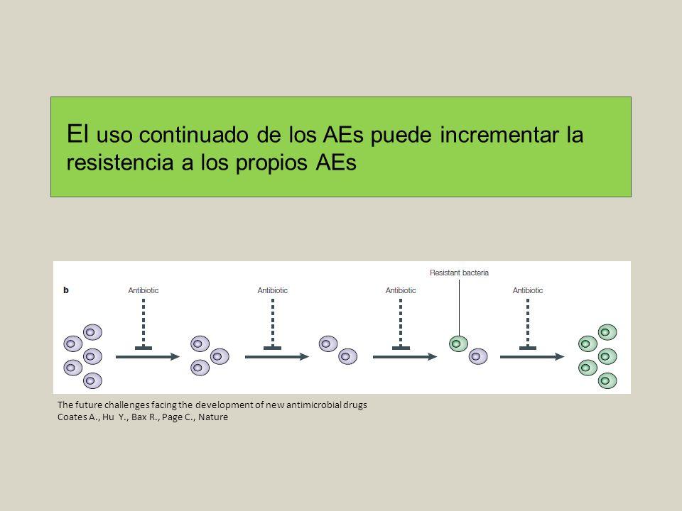El uso continuado de los AEs puede incrementar la resistencia a los propios AEs
