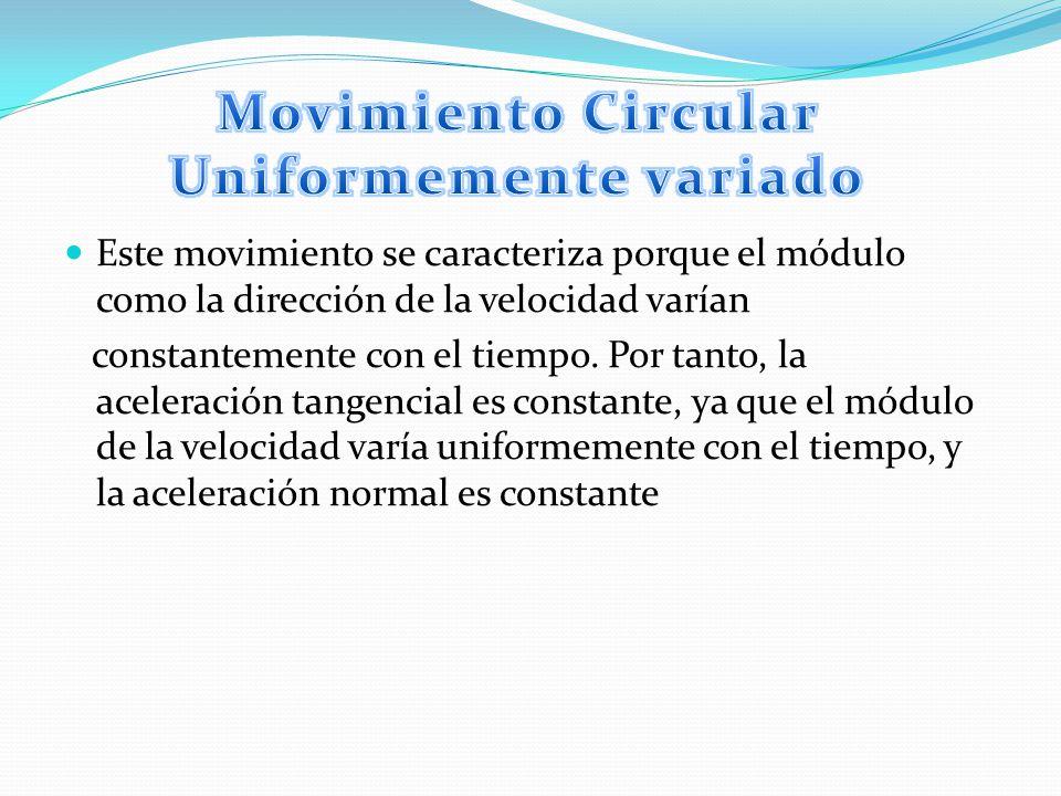 Movimiento Circular Uniformemente variado