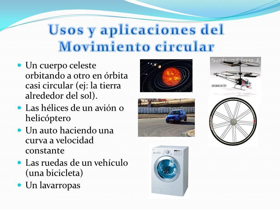 Usos y aplicaciones del Movimiento circular