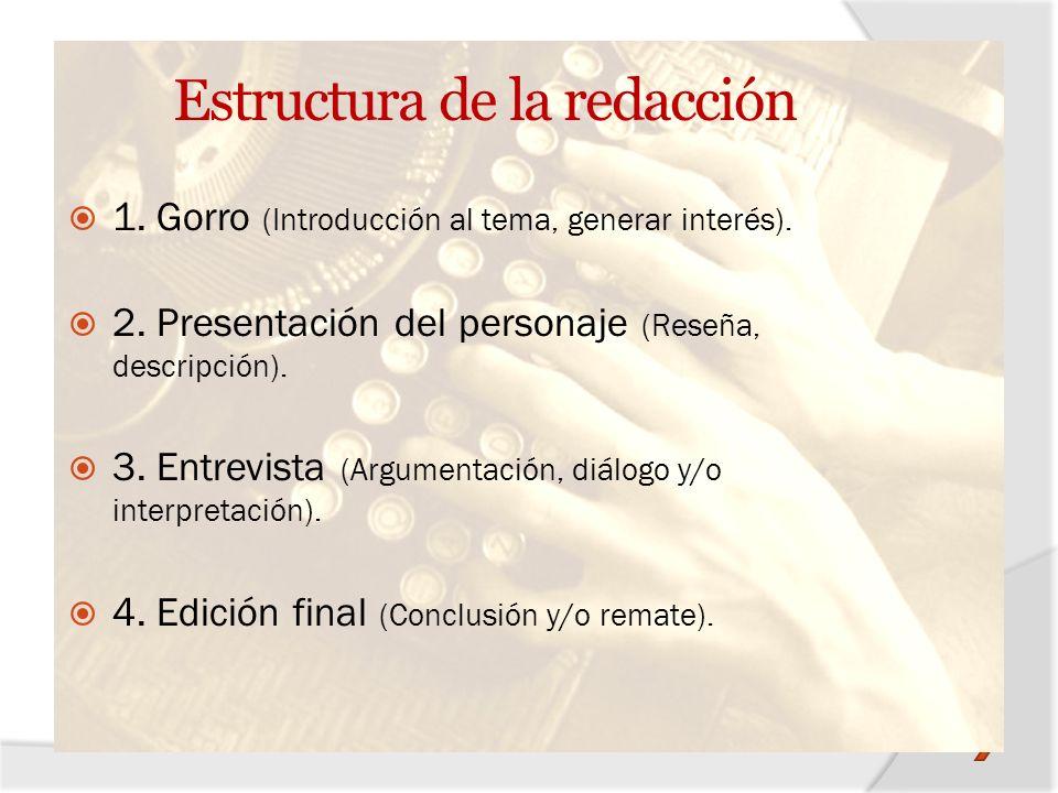 Estructura de la redacción