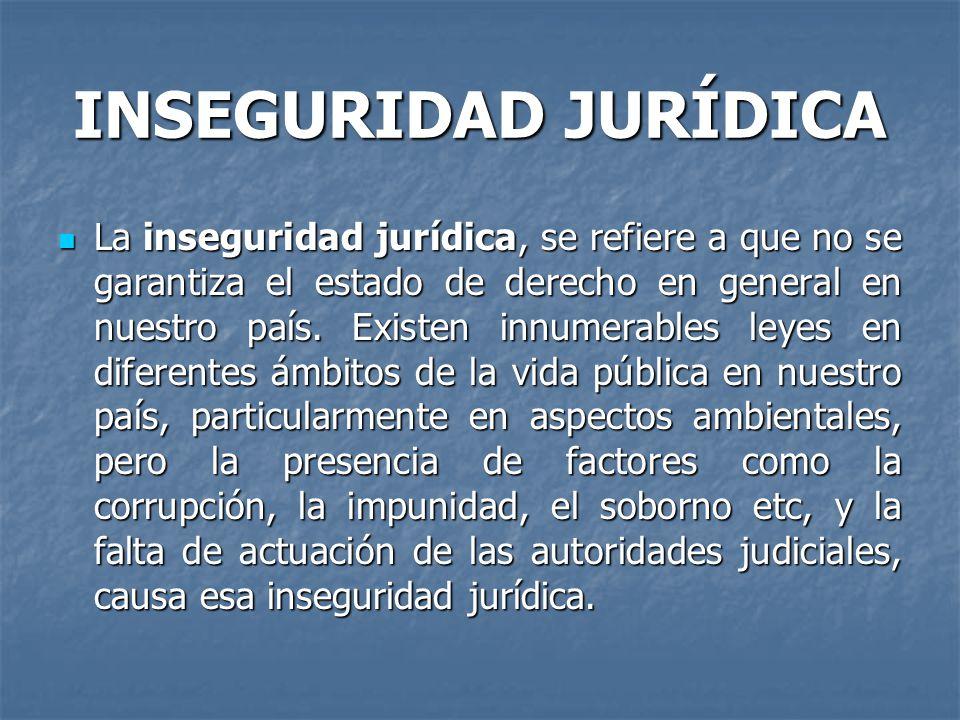 INSEGURIDAD JURÍDICA