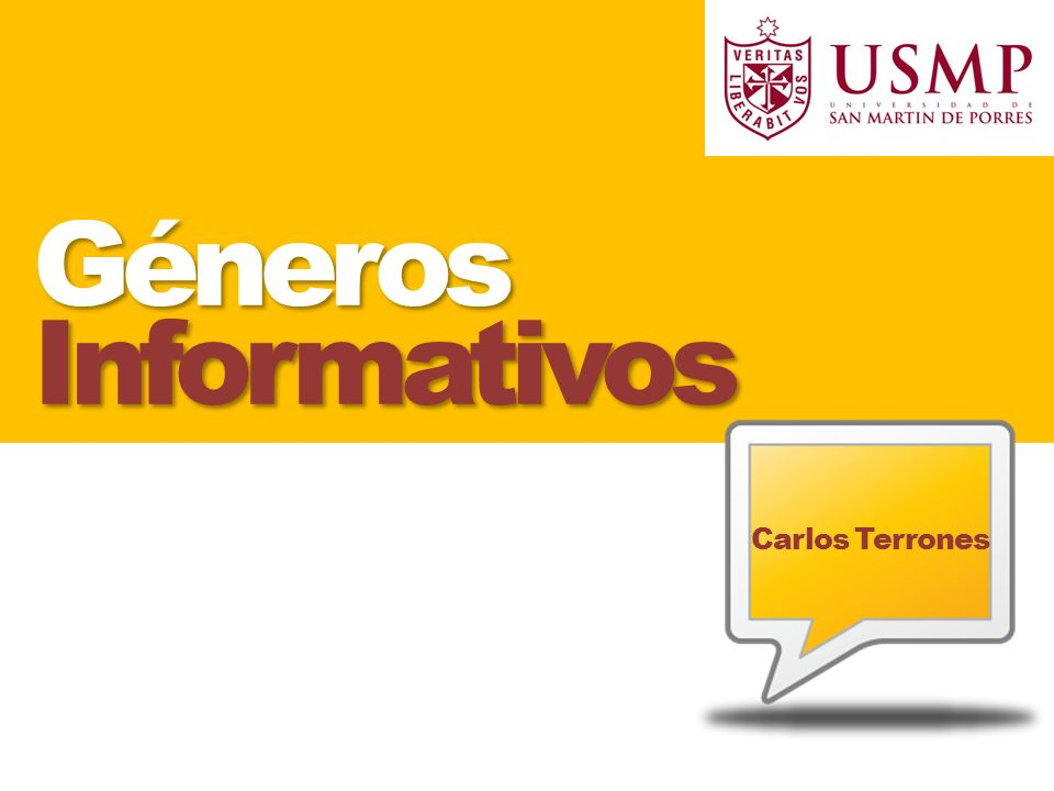 Géneros Informativos Carlos Terrones