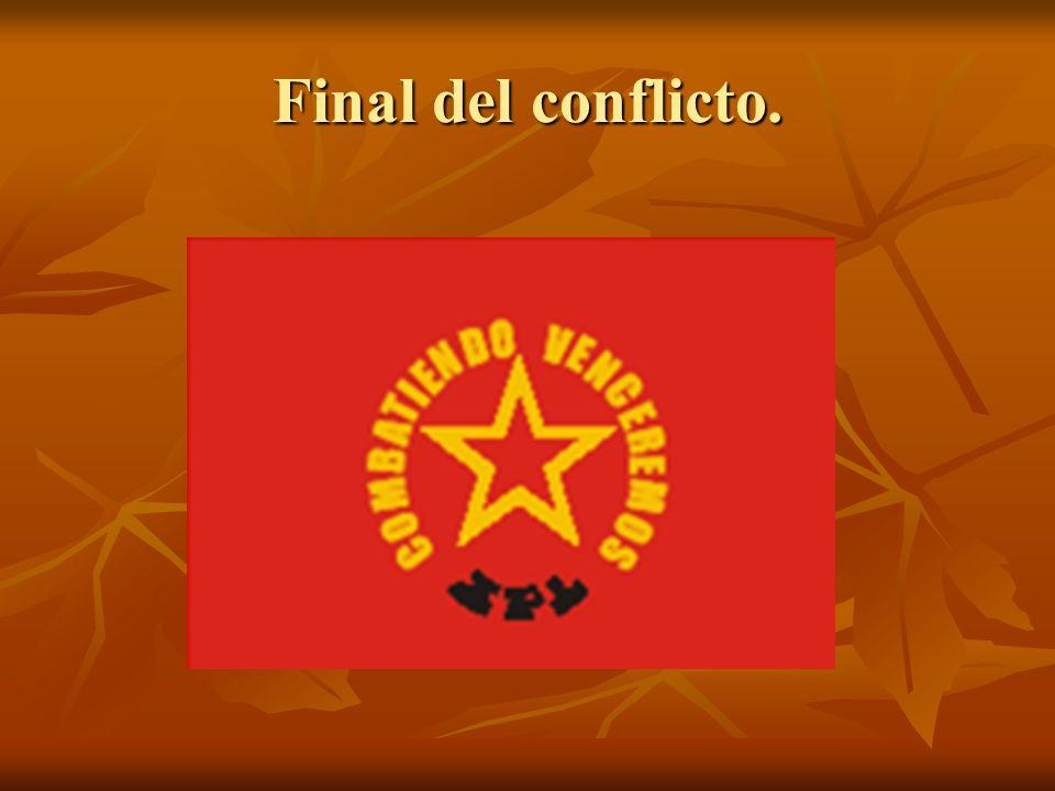 Final del conflicto.