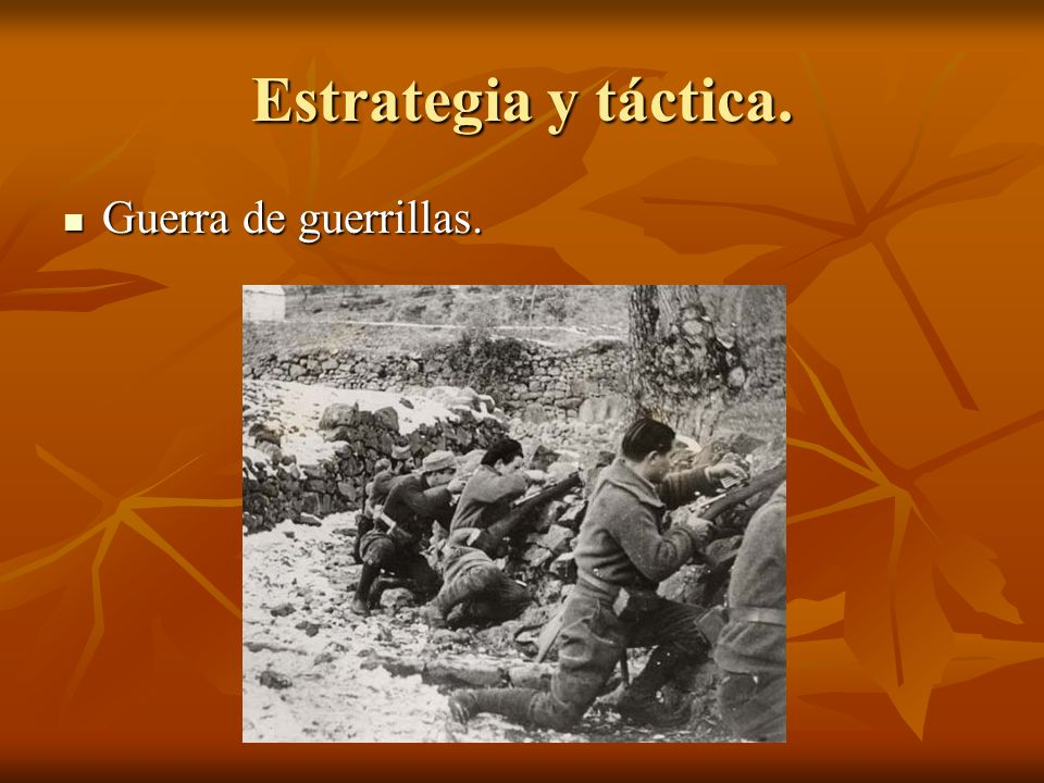 Estrategia y táctica. Guerra de guerrillas.