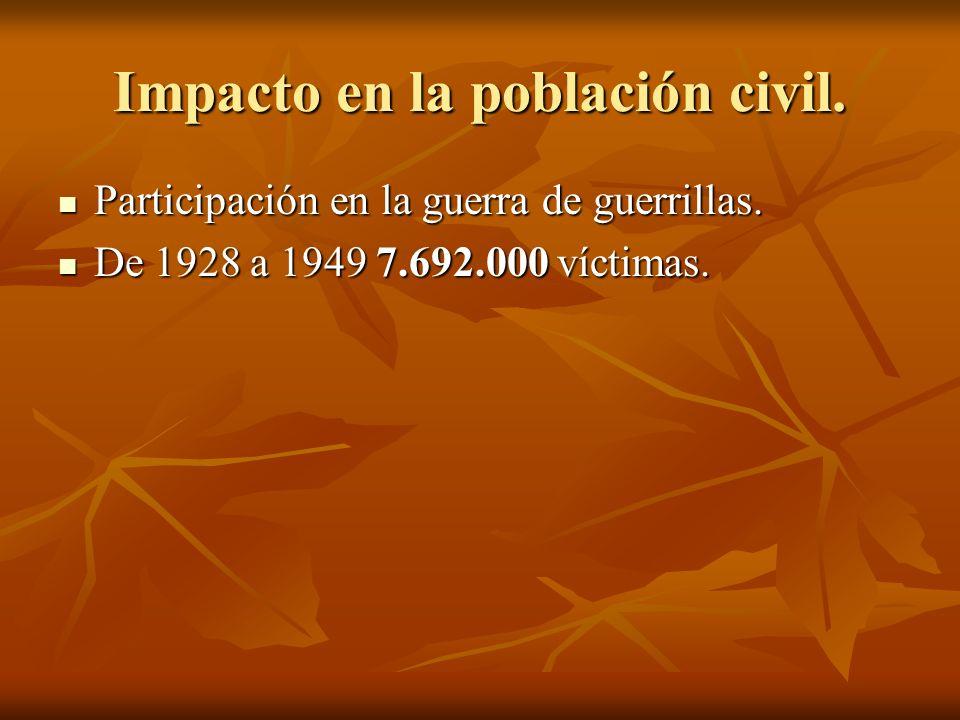 Impacto en la población civil.