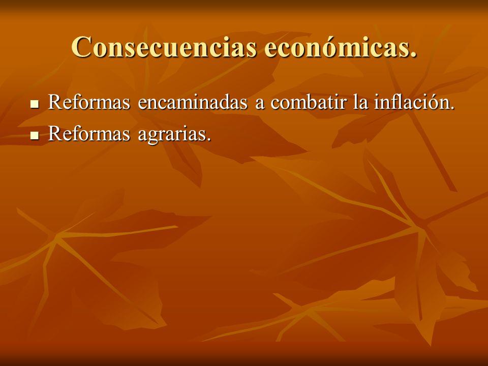 Consecuencias económicas.
