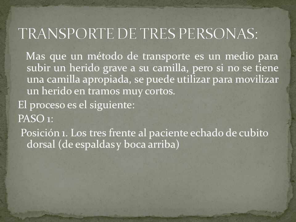 TRANSPORTE DE TRES PERSONAS: