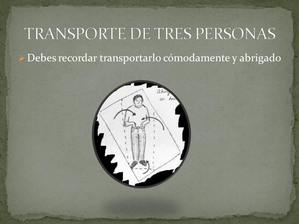 TRANSPORTE DE TRES PERSONAS