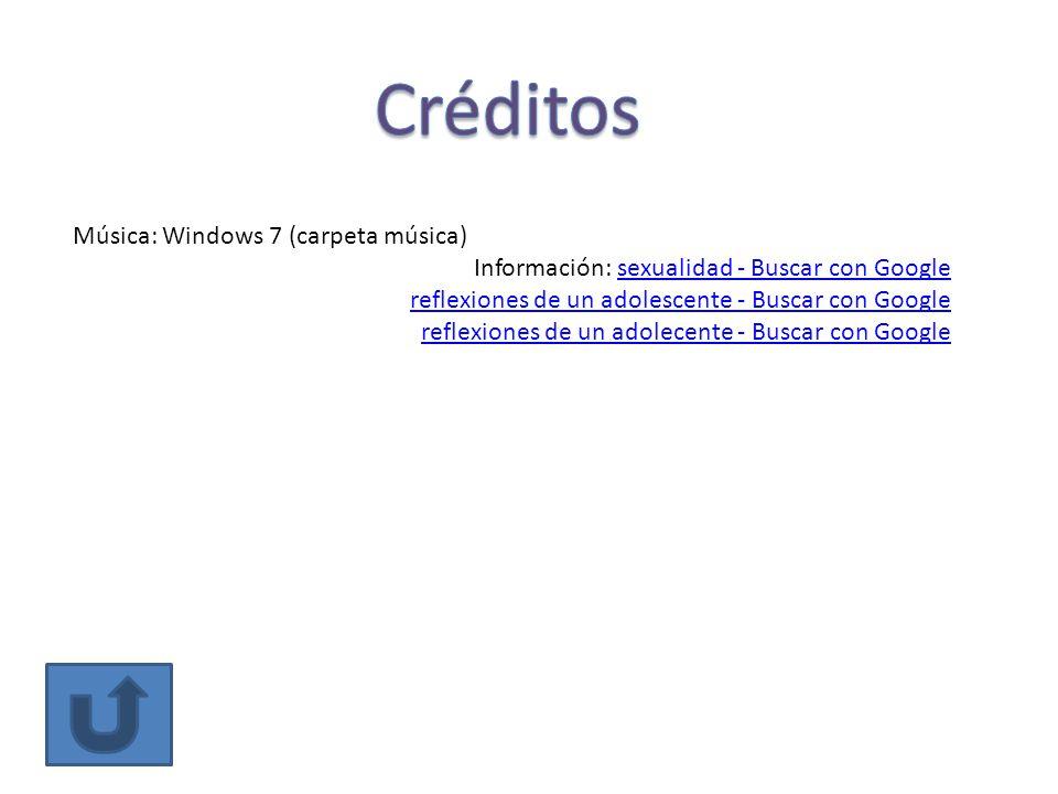 Créditos Música: Windows 7 (carpeta música)