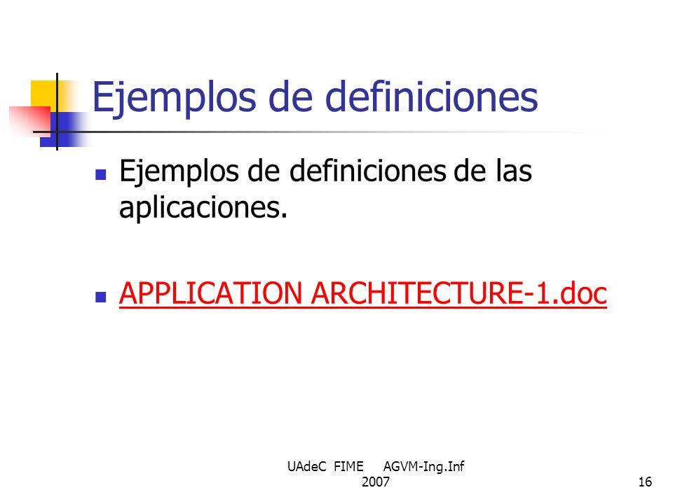 Ejemplos de definiciones