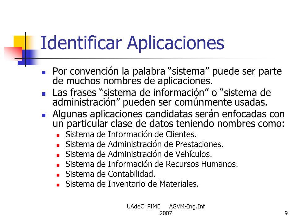 Identificar Aplicaciones