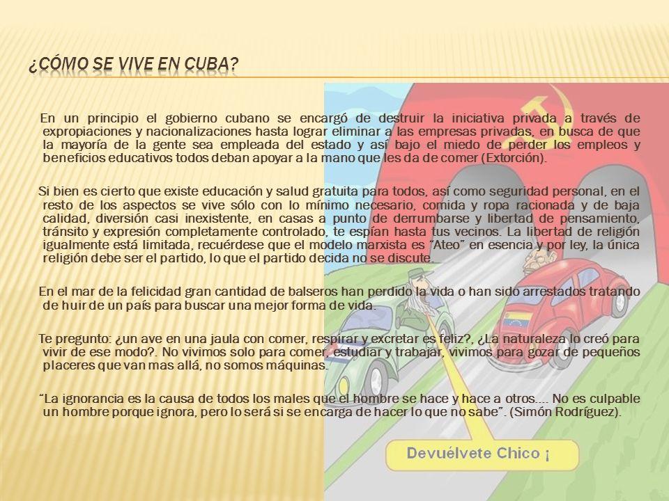 ¿Cómo se vive en Cuba