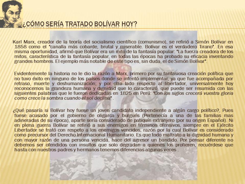 ¿Cómo sería tratado Bolívar hoy
