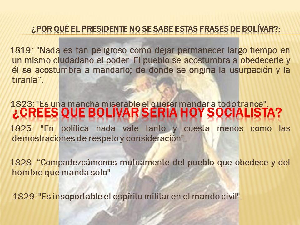 ¿Crees que Bolívar sería hoy Socialista