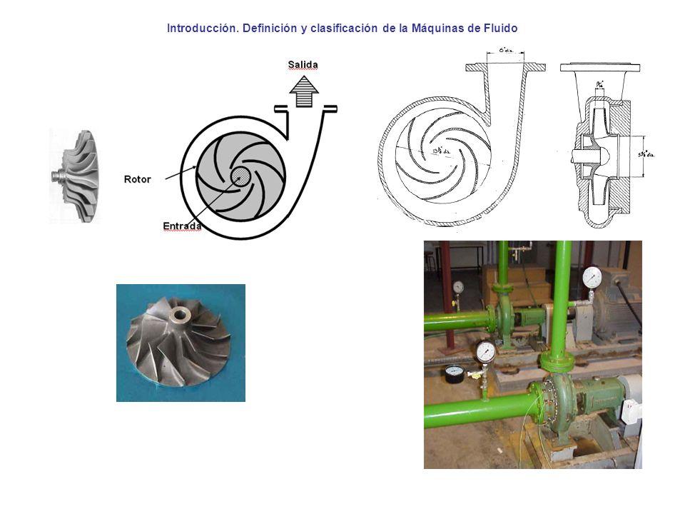 Introducción. Definición y clasificación de la Máquinas de Fluido
