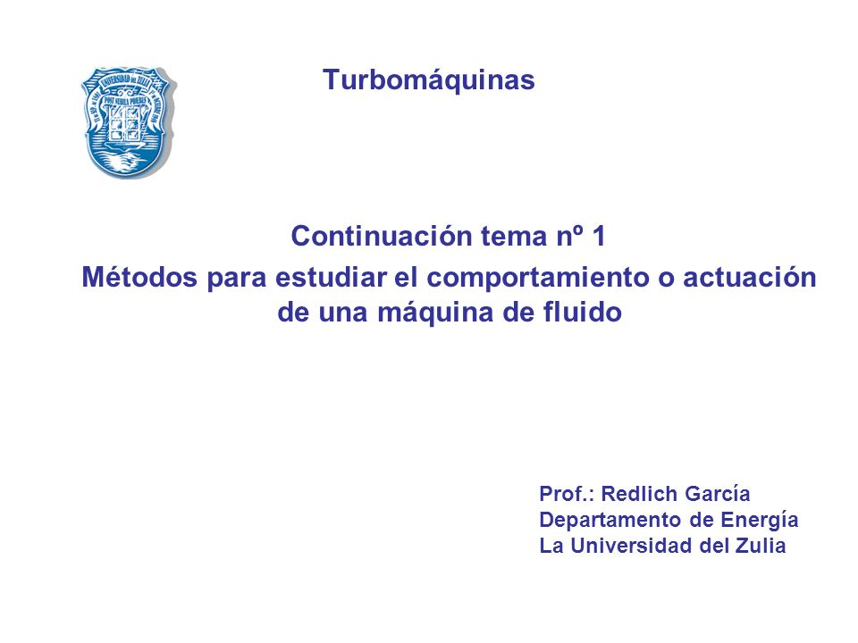 Turbomáquinas Continuación tema nº 1