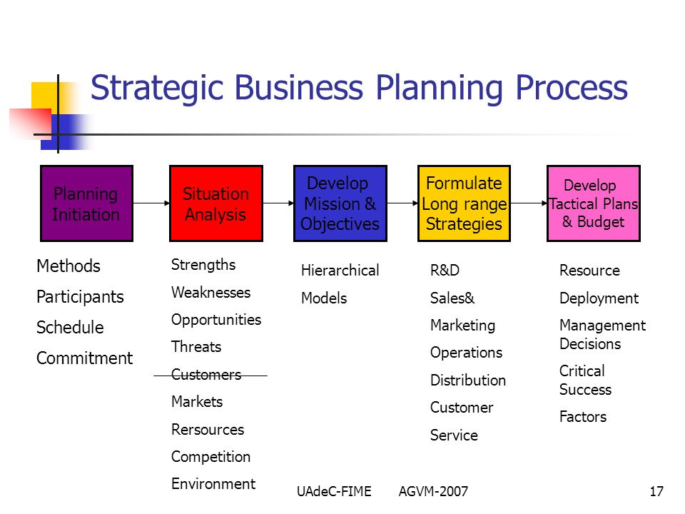 Strategic Business Planning Process