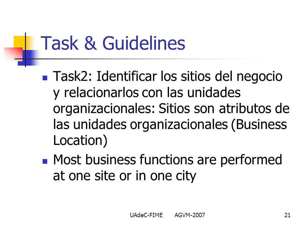 Task & Guidelines