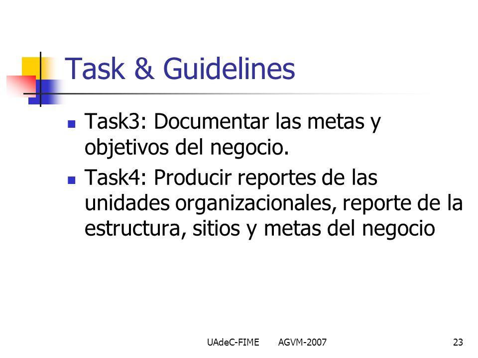 Task & Guidelines Task3: Documentar las metas y objetivos del negocio.