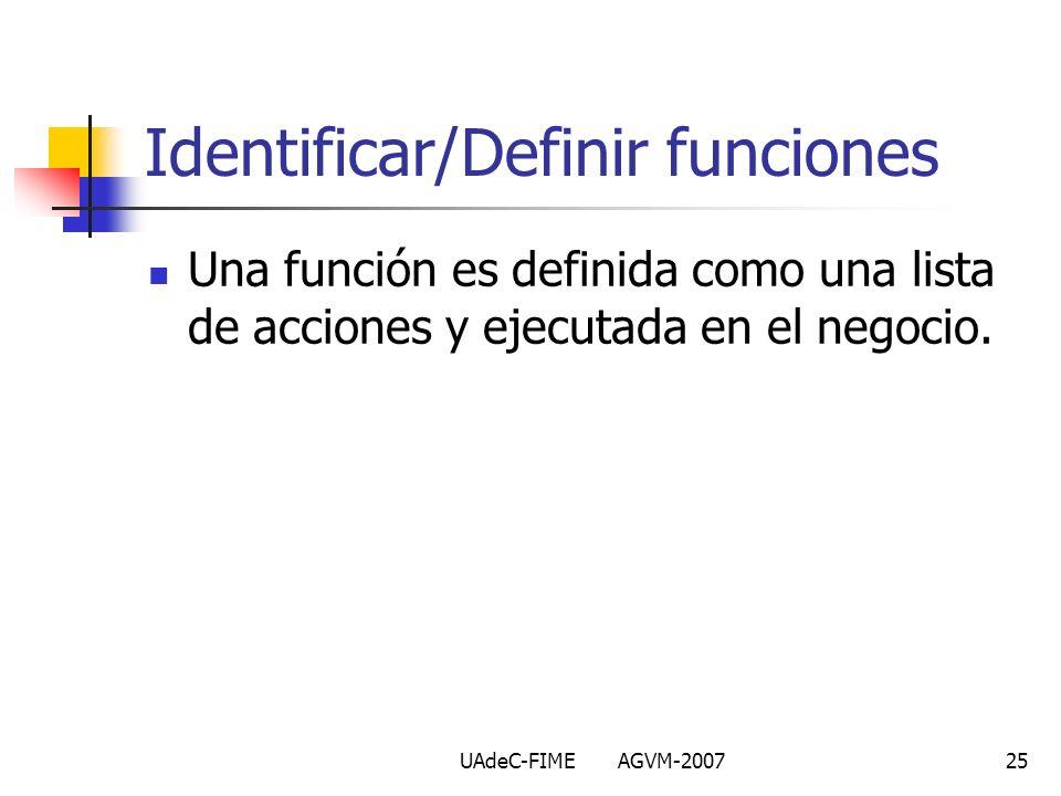 Identificar/Definir funciones