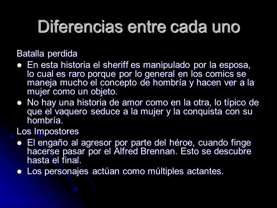 Diferencias entre cada uno