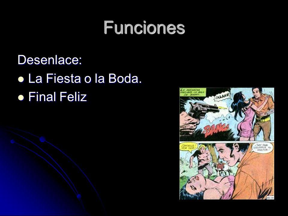 Funciones Desenlace: La Fiesta o la Boda. Final Feliz