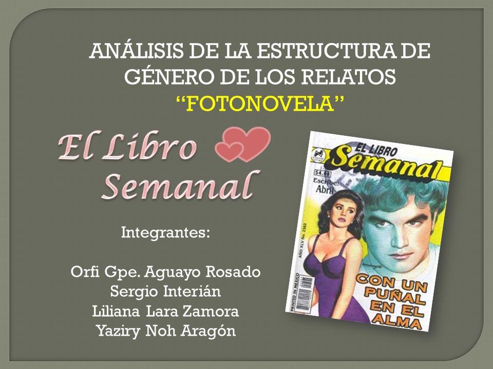 ANÁLISIS DE LA ESTRUCTURA DE GÉNERO DE LOS RELATOS