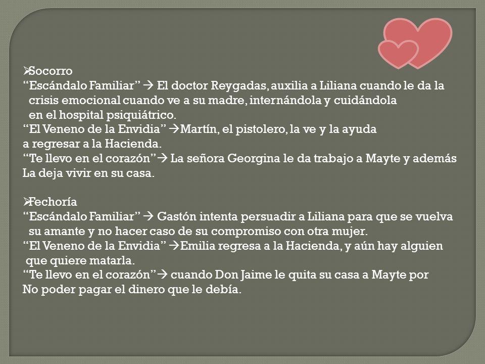 Socorro Escándalo Familiar  El doctor Reygadas, auxilia a Liliana cuando le da la.