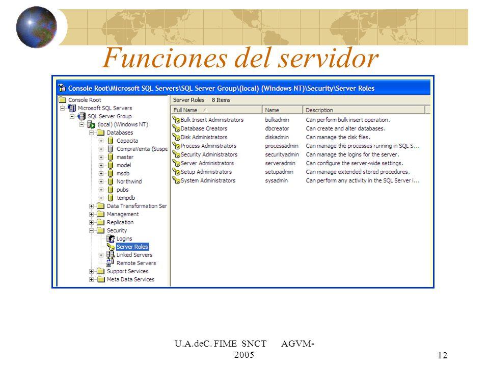 Funciones del servidor
