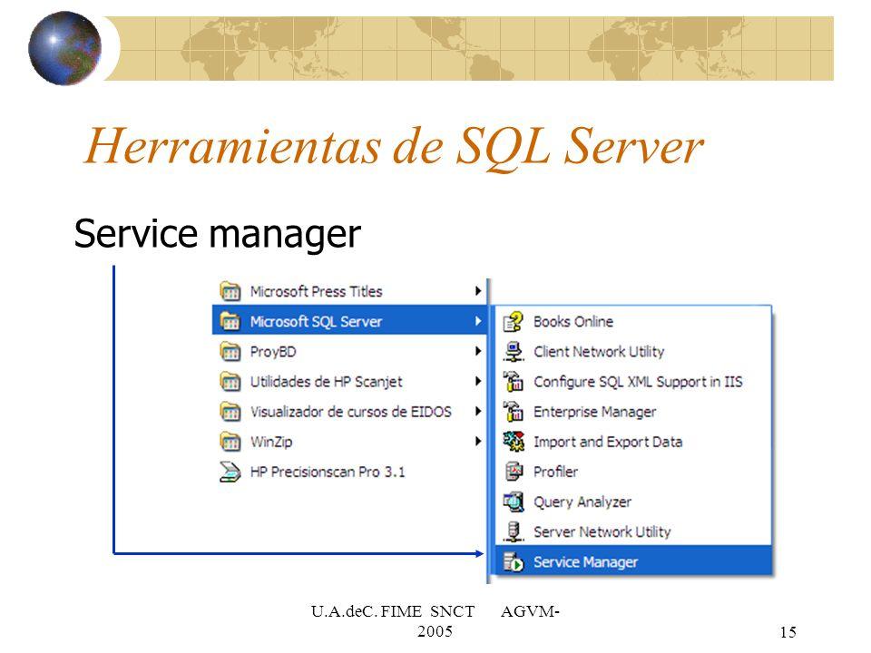 Herramientas de SQL Server