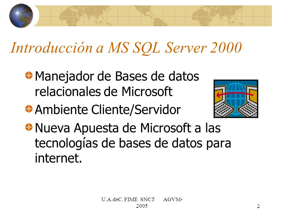 Introducción a MS SQL Server 2000