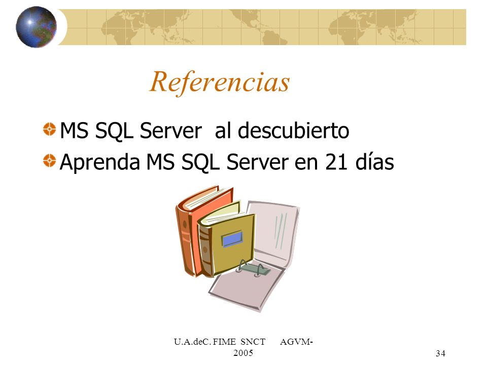 Referencias MS SQL Server al descubierto