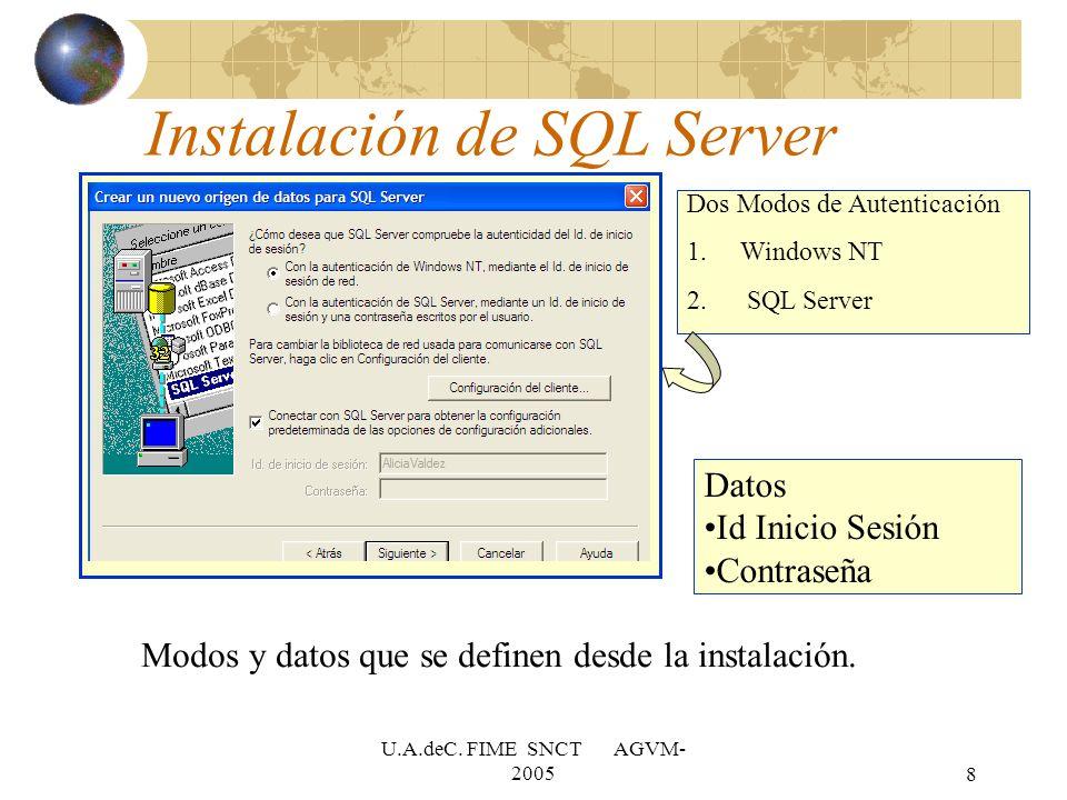 Instalación de SQL Server