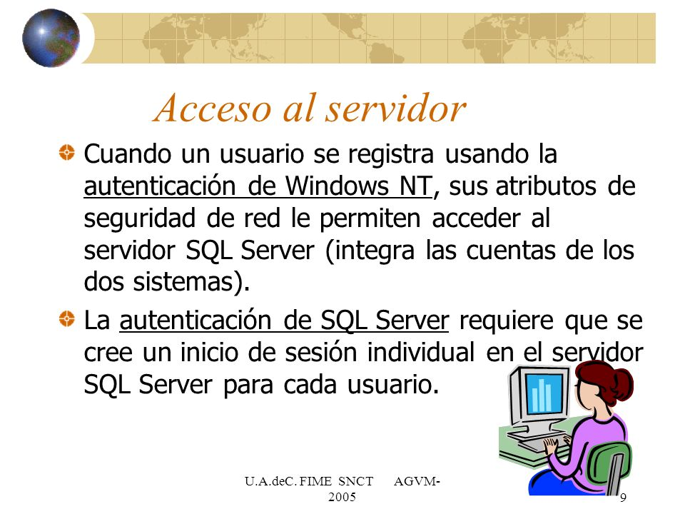 Acceso al servidor