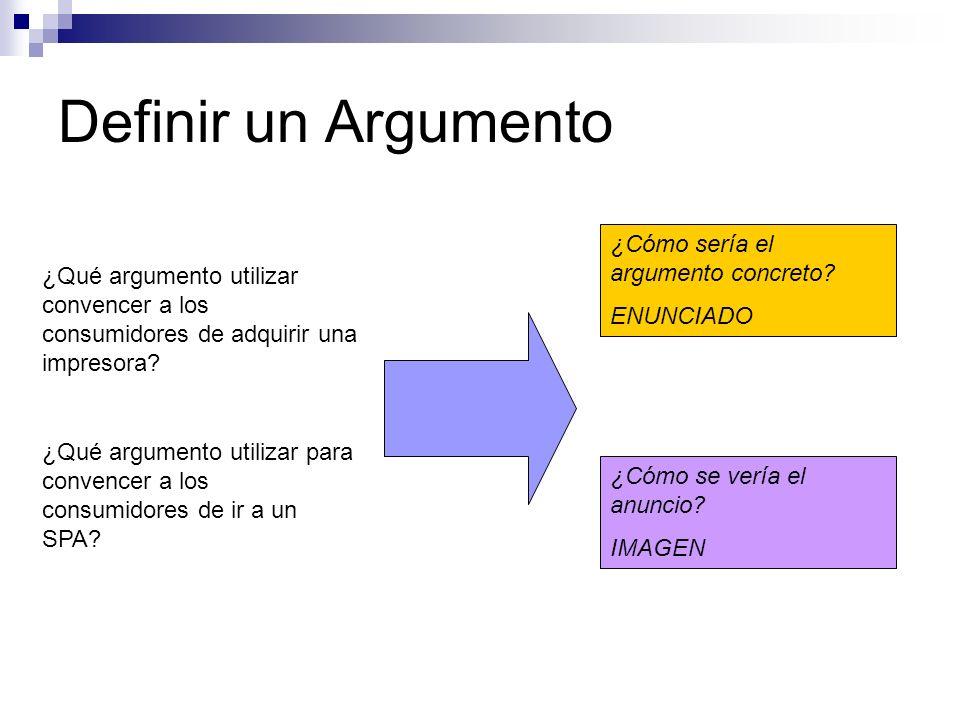 Definir un Argumento ¿Cómo sería el argumento concreto ENUNCIADO