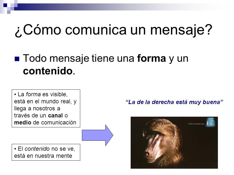 ¿Cómo comunica un mensaje