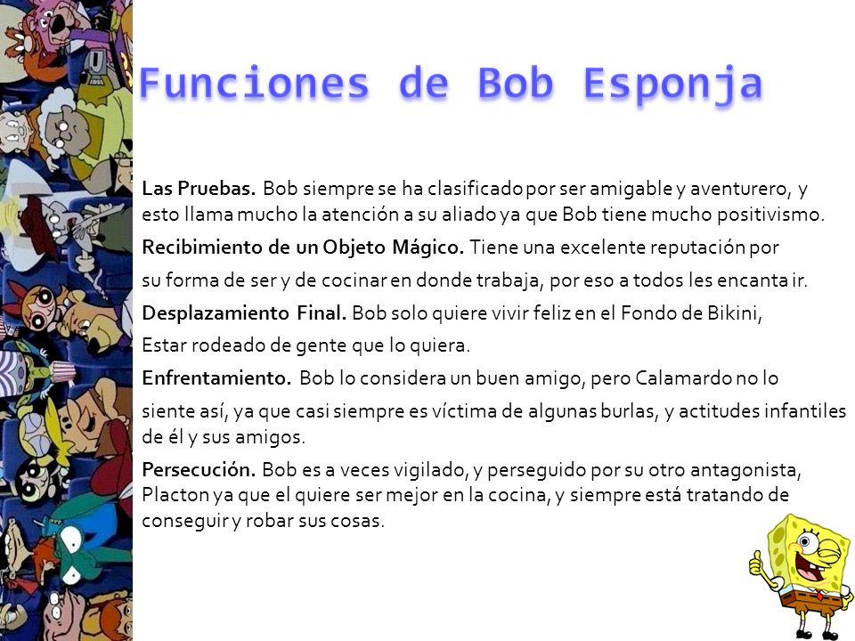 Funciones de Bob Esponja