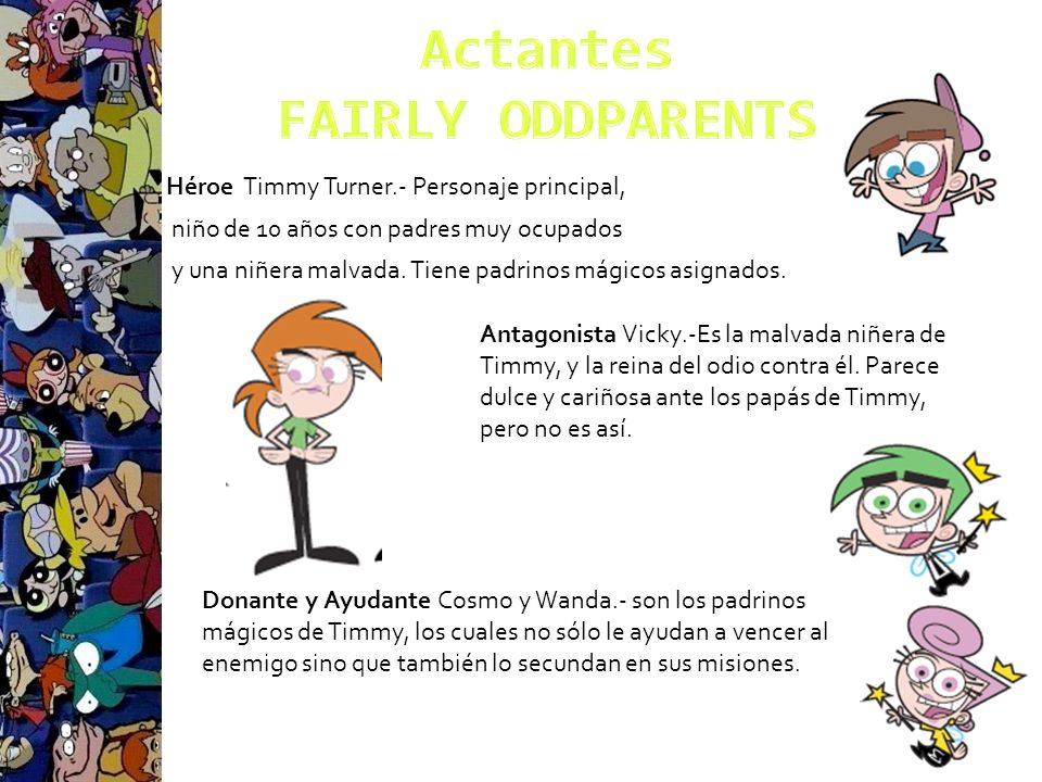 Actantes FAIRLY ODDPARENTS