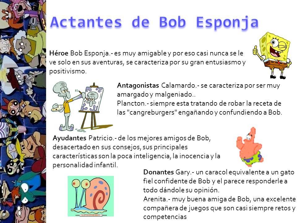 Actantes de Bob Esponja