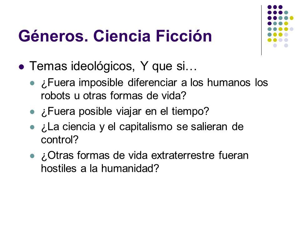 Géneros. Ciencia Ficción