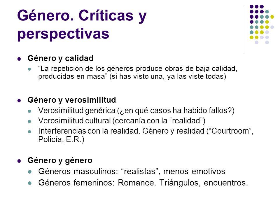 Género. Críticas y perspectivas
