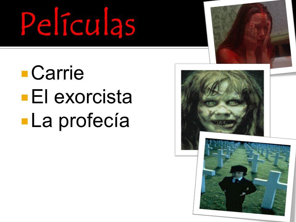 Películas Carrie El exorcista La profecía