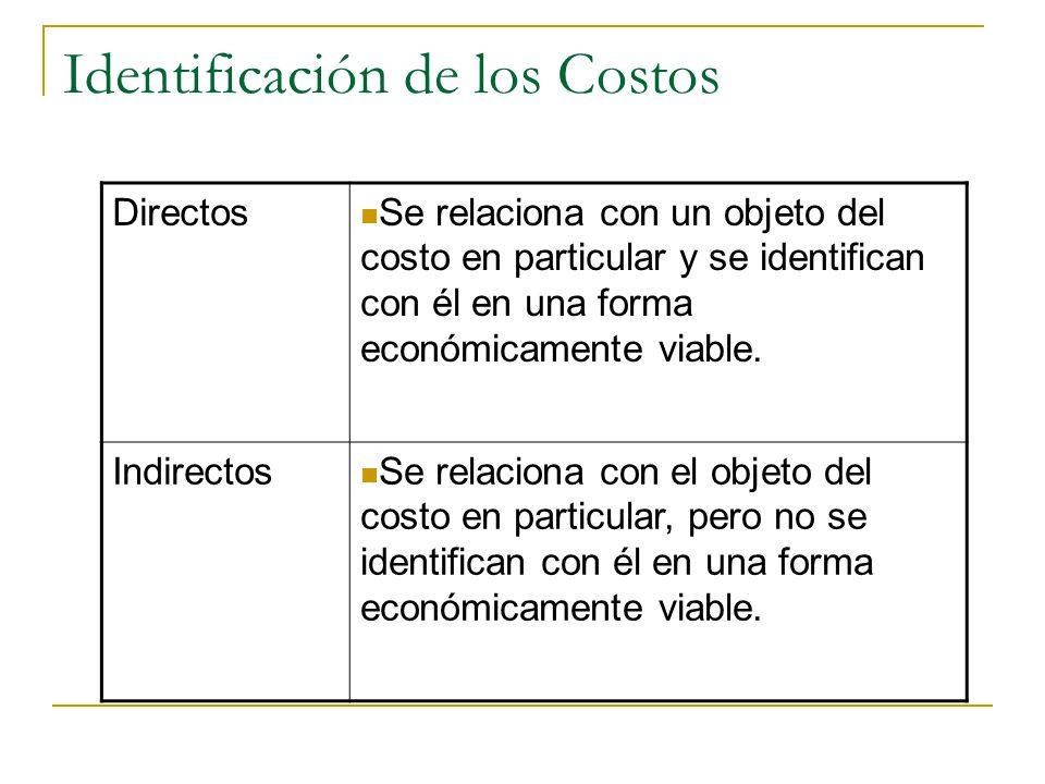 Identificación de los Costos
