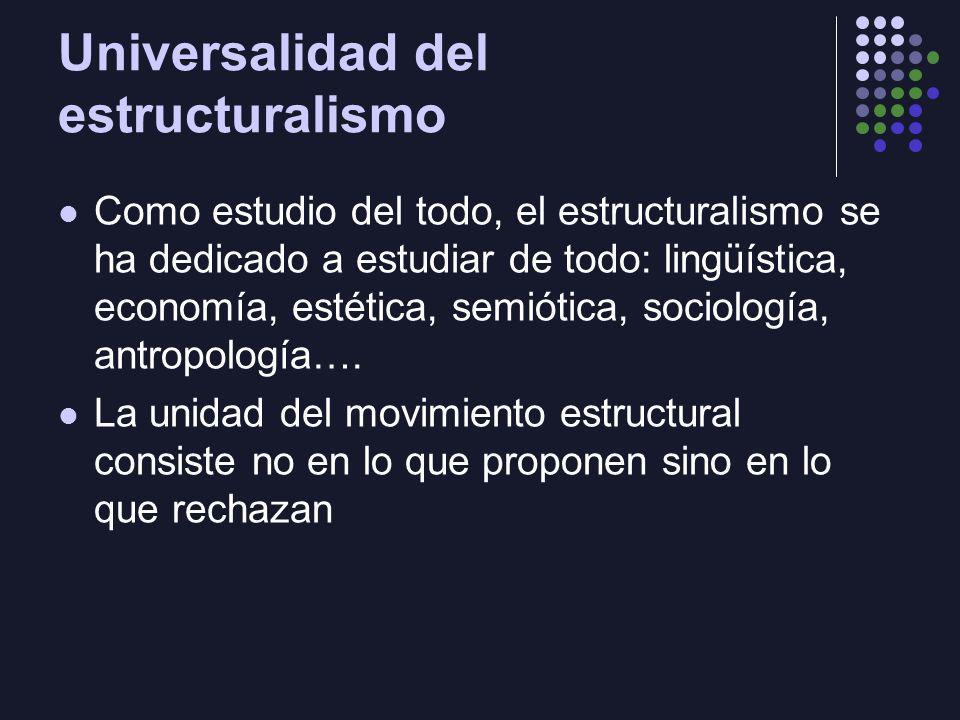 Universalidad del estructuralismo