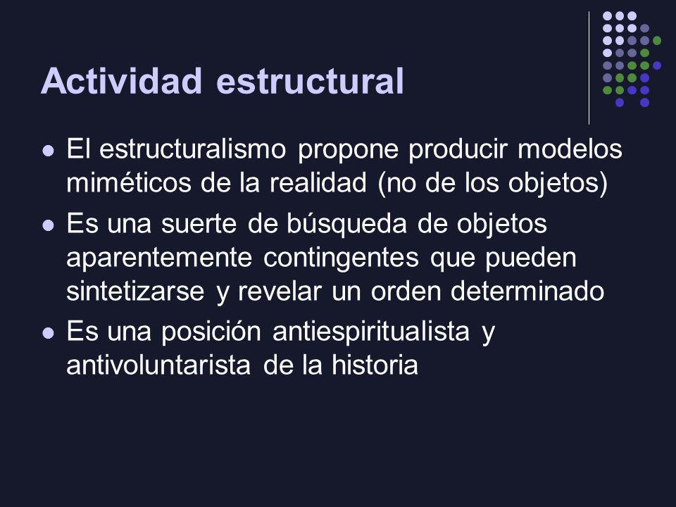 Actividad estructural
