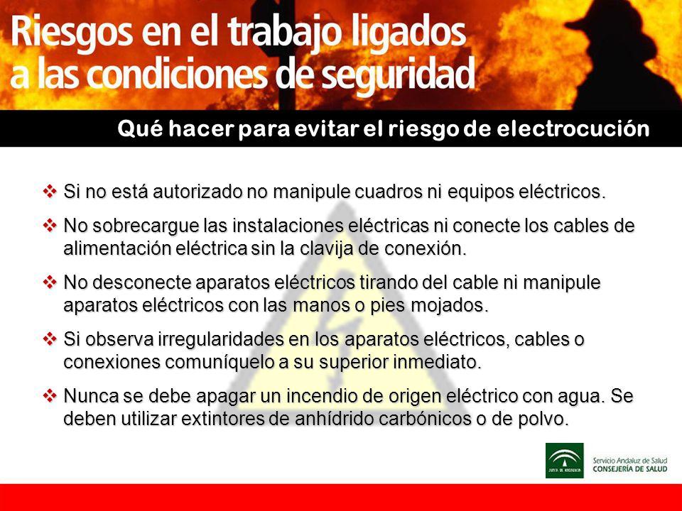 Qué hacer para evitar el riesgo de electrocución