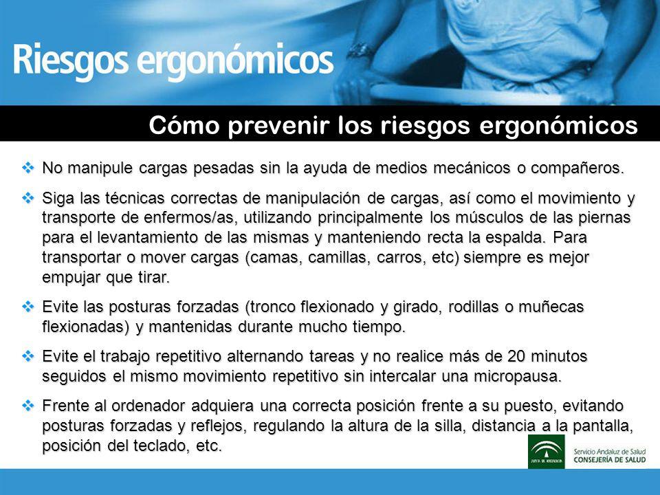 Cómo prevenir los riesgos ergonómicos